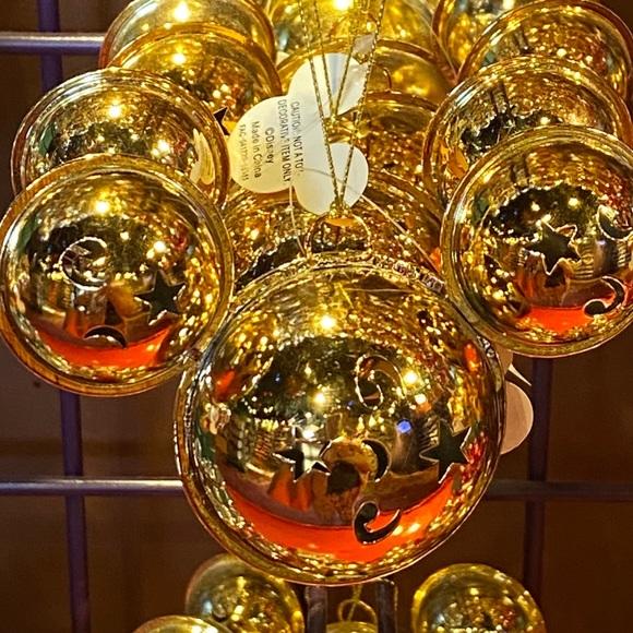 🎄🔔 Disney Mickey Minnie Ears Jingle Bells Bauble